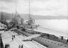 HMS Achilles at Aotea Quay during the 1930s | NZHistory, New Zealand history online