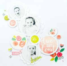Circles: Live out Loud Layout @raquelLbowman @pinkpaislee #pinkpaislee…