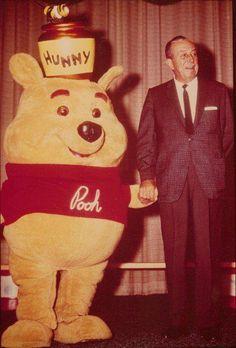 Walt Disney with Winnie the Pooh (From WaltDisneyLand on Facebook)
