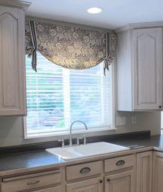 Kitchen Valance Patterns | Kitchen Valance Ideas Floral Pattern Kitchen Interior