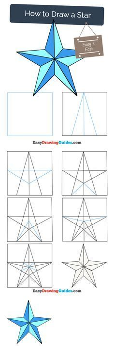 Learn How to Draw a Star: Easy Step-by-Step Drawing Tutorial for Kids and Beginners. #spiderman #drawing. See the full tutorial at https://easydrawingguides.com/how-to-draw-a-star/
