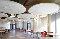 Dealing with high ceilings  Design and Specify, office design, Leeds, Yorkshire,Design and Specify, office design, office furniture, partitioning, office partitions, Leeds, Yorkshire, training room, office, break out, dining, reception, meeting room, furniture,