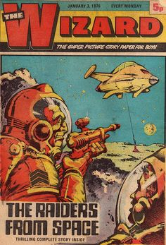 The Wizard magazine The Raiders From Space