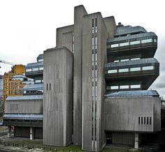 _ Concrete Structure, Close Encounters, Le Corbusier, Skyscrapers, Cubism, Brutalist, Bunker, Towers, Cyberpunk