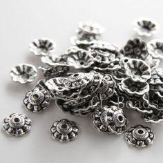 30pcs-Oxidized-Silver-Tone-Base-Metal-Caps-10-5x3mm-1543X-K-38A