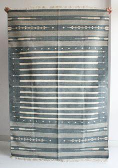 Handmade Rug in Grey 4 x 6 Feet. $288.00, via Etsy. *that's fine art.