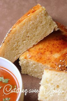 Pain tunisien a la semoule (cuisson au four) - Basic Homemade Bread Recipe - The healthiest bread to make? Homemade Sandwich Bread, Sandwich Bread Recipes, Croissants, Tunisian Food, Bread And Pastries, Quick Easy Meals, Food To Make, Bakery, Food And Drink