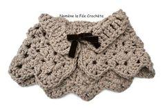 Cape marron, chauffe-épaules pour adulte ou enfant, au crochet fait main