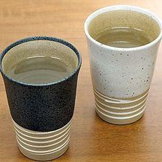 "ISSIKI Kitchen Japanese Tea Cup Yunomi,Black and White Porcelain Mug 4"" Set of 2 #ISSIKIKitchen"