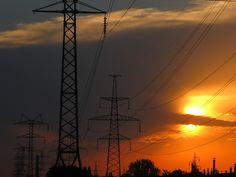 Sunset at Novye Doma district of Kharkiv