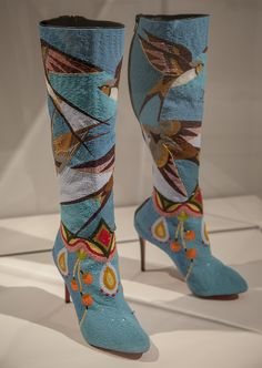 Jamie Okuma, Luiseno and Shoshone-Bannock Born 1977, works on La Jolla Indian Reservation, California Boots, 2013-14 Antique glass beads on boots Boots designed by Christian Louboutin (born 1964, France) Peabody Essex Museum, commissioned by the Peabody Essex Museum with support from Katrina Carye, John Curuby, Karen Keane and Dan Elias, Cynthia Gardner, Merry Glosband, and Steve and Ellen Hoffman, 2014.44.1AB