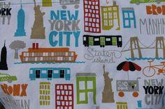 New York City Stroller Blanket with Orange Minky Dot by iyuddayou, $34.95