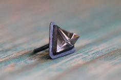 Quartz Tetrahendron Ring.  This is beautiful!