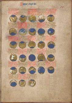 Eclipses from BL Sloane 1110, f. 30 | Nicholas of Lynn