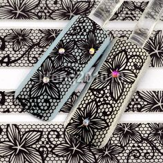 3D-Black-Lace-Design-Nail-Art-Stickers-Decals-For-Nail-Tips-Decoration-Tool-YJ03