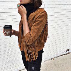 // Pinterest @esib123 //  #style #inspo  fringe jacket