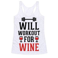 Show off your love of wine and working out with this fitness inspired, wine drinker's, gym shirt! Let the world know the only reason you are at the gym is to get home and have a couple glasses of wine!