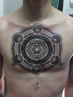 sacredgeometrytattoos: done by Mico Goldobin‎