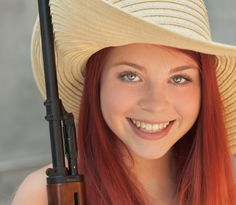 #red #Girl #Gun