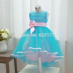 YAYIKU Vestidos de Niña para Las Bodas 2 Colores Girls Pageant Vestidos de Boda Vestido de Fiesta vestido de Verano Los Niños H178