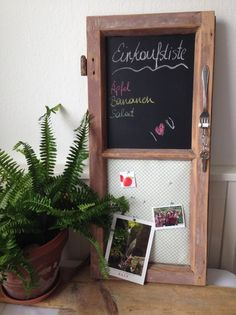 Pinnwand, Tafel aus altem Fenster von upcyclerei auf DaWanda.com