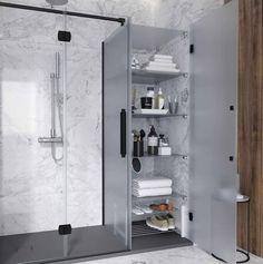 Konvert solución a medida de almacenamiento Profiltek Beach Bathrooms, Small Bathroom, Welcome To My House, Bathroom Tile Designs, Bathroom Medicine Cabinet, Sweet Home, Shower, Home Decor, Toilets