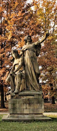 Josef Václav Myslbek - Přemysl and Libuše (from sculptural group from Czech legends at Vyšehrad, Prague, Czechia (1881-1897) #sculpture #Czechia #CzechArt #art #memorial