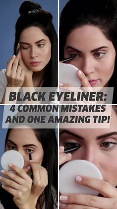 Does your eyeliner always smudge no matter what you do? We've got the way to avoid this from happening! Does your eyeliner always smudge no matter what you do? We've got the way to avoid this from happening! Eye Shape Makeup, Makeup Eye Looks, Eye Makeup Steps, Smokey Eye Makeup, Eyebrow Makeup, Skin Makeup, Eyeshadow Makeup, Makeup Art, Makeup Brushes