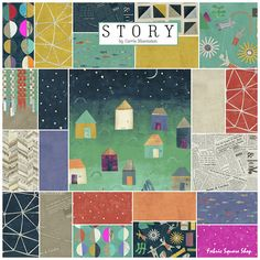 Carrie Bloomston STORY Fat Quarter Bundle 23 by materialgirlchic