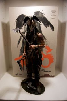"Hot Toys The Lone Ranger TONTO 12"" Action Figure 1/6 Scale Johnny Depp MMS217 #HotToys"