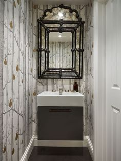 A downstairs toilet is usually the smallest room in the home, but that's no excuse for failing to make a statement with your cloakroom. Transform the toilet by using these design ideas as inspiration. Small Toilet Room, Shower Room, Wc Ideas, Small Bathroom, Bathroom, Wallpaper Toilet, Small Shower Room, Cloakroom, Downstairs Toilet