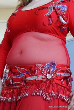 How to make your own belly cover tutorial at Belly Dance at Any Size