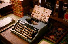 Vintage typewriter - to make you feel like a REAL writer