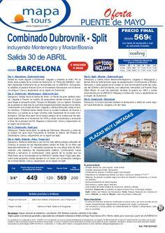 Dubrovnik-Split Puente de Mayo salida 30 Abril Barcelona **desde 569** - http://zocotours.com/dubrovnik-split-puente-de-mayo-salida-30-abril-barcelona-desde-569/