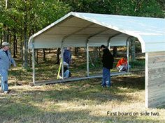 barn made out of carport