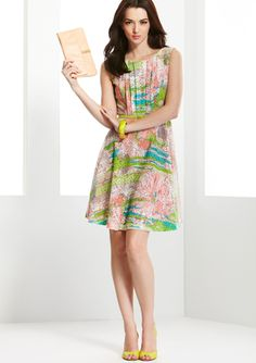 More love for a print on lace. - JAX Monet Floral Belted Dress