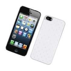 MetroPhones.co IPHONE 5 CHROME Spot Diamond Case, White: Cell Phones & Accessories