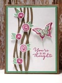SU! Swirly Bird, Papillon Potpourri and Watercolor Wishes stamp sets; Swirly Scribbles Thinlits Dies, Bitty Butterfly Punch, Elegant Butterfly Punch; colors are Mint Macaron, Tip Top Taupe, Sweet Sugar Plum - Lisa Flemming