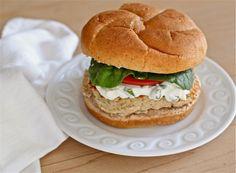 White bean burgers (Secret Recipe Club) - Adventures of the Kitchen Ninja - get rid of feta cheese in dressing,