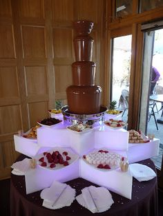 Our lovely Chocolate Fountain at Abi & Lewis Wedding - Rivervale Barn in Hampshire :)