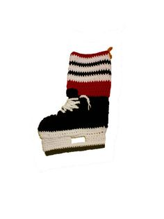 Chicago Blackhawks colors Ice Hockey by AlysCrochetCreations, $35.00