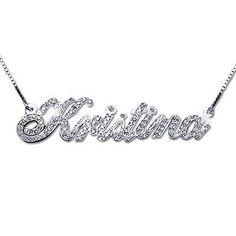 21b718e9a849 Diamond Jewelry  personalizedgoldnamenecklace Collar Placa De  Identificación