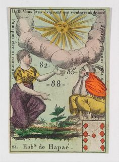 Nine of Hearts playing card - Hab.t de Hapae from Playing Cards (for Quartets) 'Costumes des Peuples Étrangers'