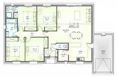 Plan Maison Neuve à Construire   Marc Junior OPEN Plain Pied 103