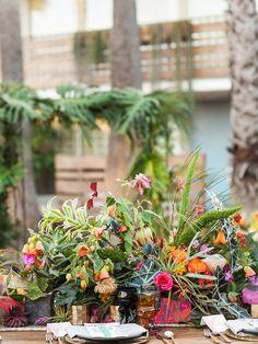 Tropical wedding inspiration | Photography:@iheartmygroom | Venue: @thegoodlandsb | Event design: @bijouxevents | Florals:@ella_and_louie |Tabletop rentals:@otisandpearl |