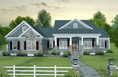 #BestSelling #HousePlan 93483 | This sophisticated southern country home, with its updated Craftsman facade and spacious interior design, is both flexible and dramatic. A three car garage, screened porch, spacious country kitchen, an optional 1,535 sq. ft. bonus area and an optional 2,352 sq. ft. basement make this home irresistible!