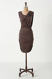 ruched and draped column dress from anthroplogie