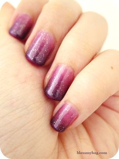 Gradient Nails. 40 minutes to do one hand. It would break my heart if something like this chipped. D: