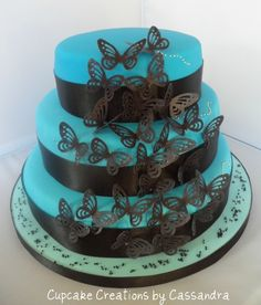 Beautiful Butterfly cake featured on Cake Central today!