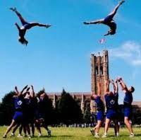 basket tosses #cheerleading